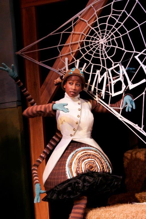 Pamela Shaddock in Charlotte's Web at South Coast Rep.